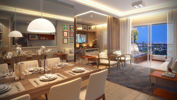 Sala De Estar Living Ampliado ~ Art Life Paulínia Apartamentos na Planta 86m² 3 dorm c suíte
