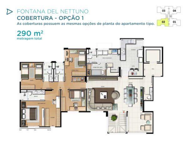 Acqua Galleria Nettuno Cobertura 290m2 Piso Inferior 1