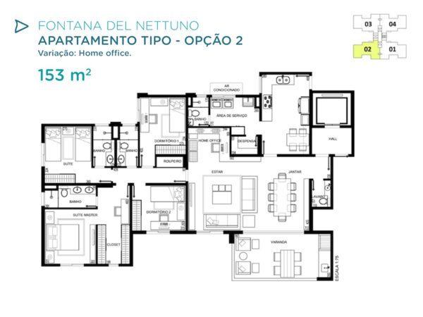 Acqua Galleria Nettuno Planta 153m2 2