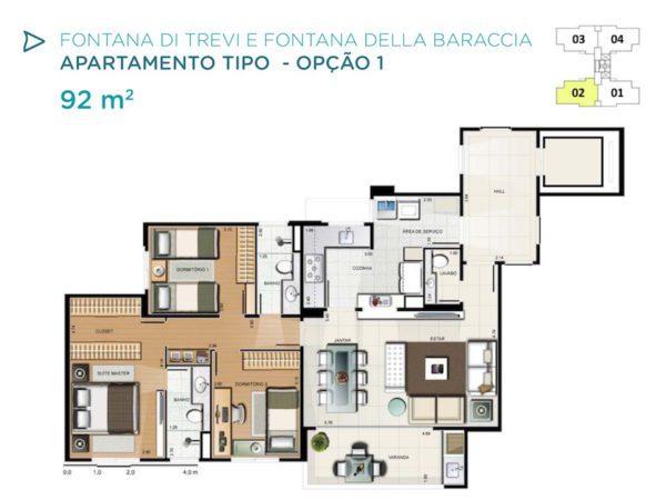 Acqua Galleria Trevi Baraccia Planta 92m2 1