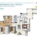 Acqua Galleria Trevi Baraccia Planta 92m2 2