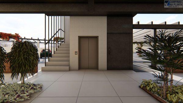 existem 2 elevadores para acesso aos apartamentos do 1º andar