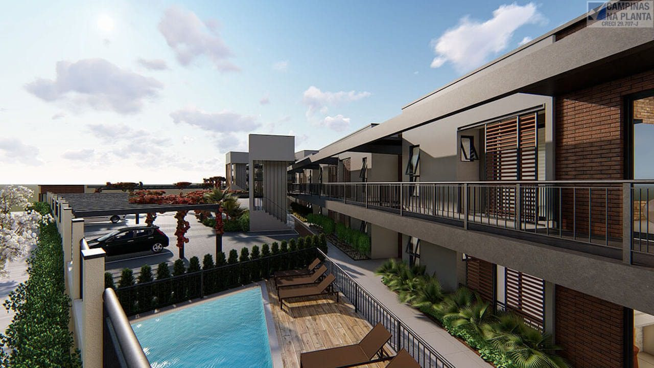 Mais uma perspectiva ilustrada da piscina do lançamento Alive Nova Campinas
