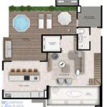 alto cambui planta apartamento cobertura duplex 245m² piso superior