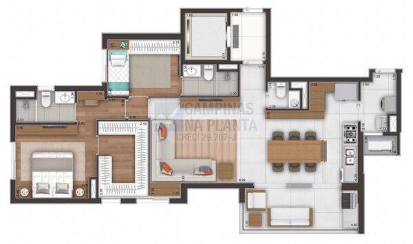 Ampliare Taquaral Planta Opcao 2 Suites Com Closet Na Suite Master Opcao 1 Cozinha Aberta
