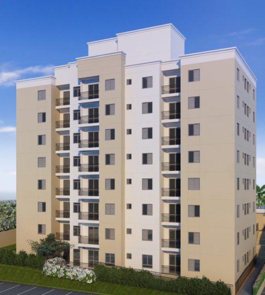 apartamento venda campinas residencial allegria perspectiva ilustrada fachada