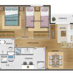 apartamento venda campinas residencial allegria planta 49² de ponta