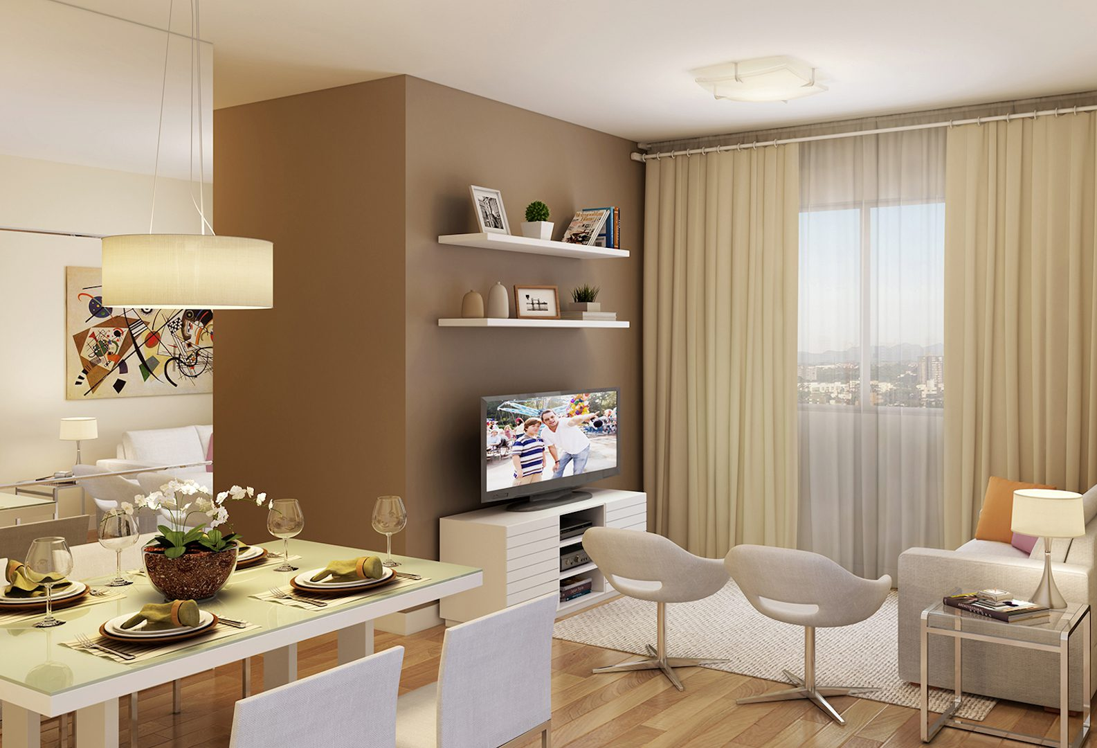 apartamento à venda campinas residencial allegria perspectiva ilustrada sala