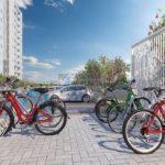 Bicicletário e bike sharing Arbo Condomínio Parque