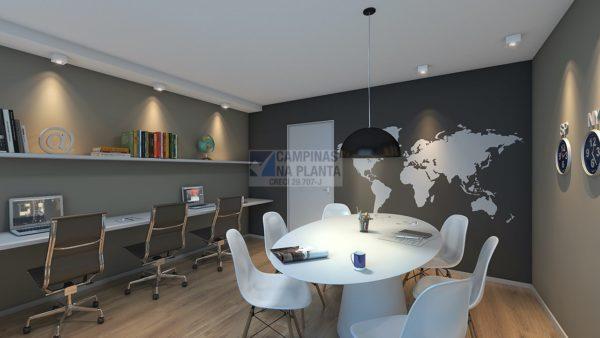 home office deste projetos de apartamentos na planta em campinas Arbo Condomínio Parque