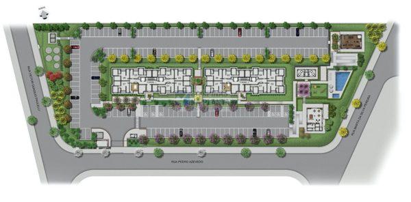 implantação do lançamento Arbo Condomínio Parque