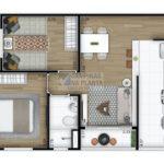 planta tipo 2 do arbo condominio parque com 2 quartos