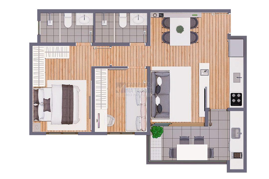Biitencourt 678 Lancamento Planta 2 Dormitorios Finais 1 8