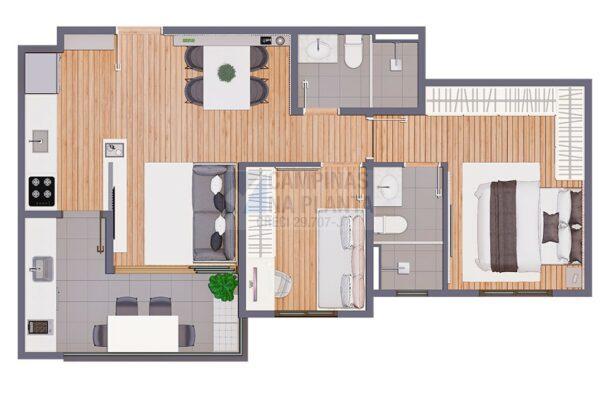 Biitencourt 678 Lancamento Planta 2 Dormitorios Finais 3 6