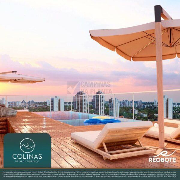 colinas são lourenço perspectiva ilustrada da piscina com borda infinita no rooftop
