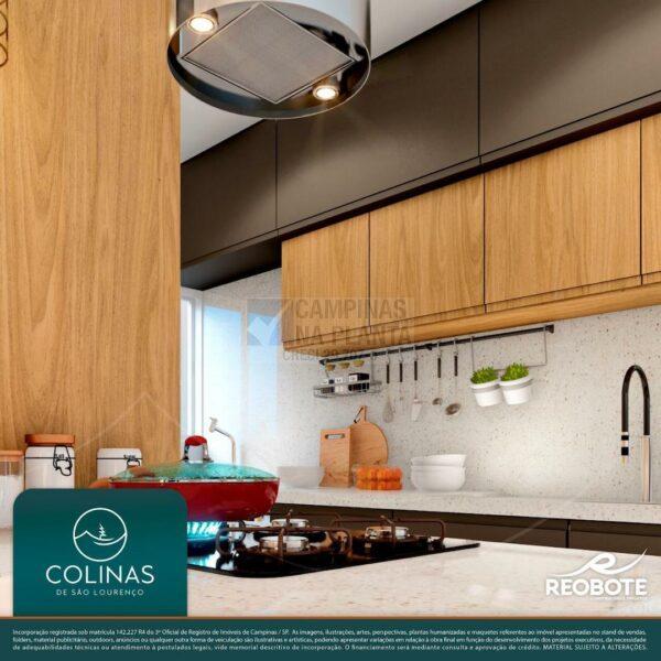 colinas de são lourenço perspectiva ilustrada da cozinha