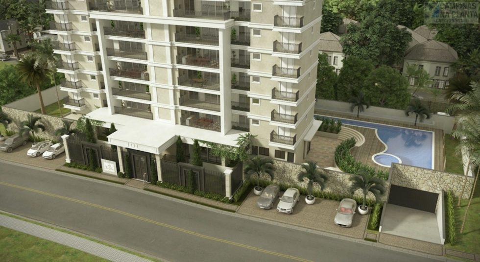 Perspectiva ilustrada da fachada do Tom Jobim em Sorocaba da CRB Construtora