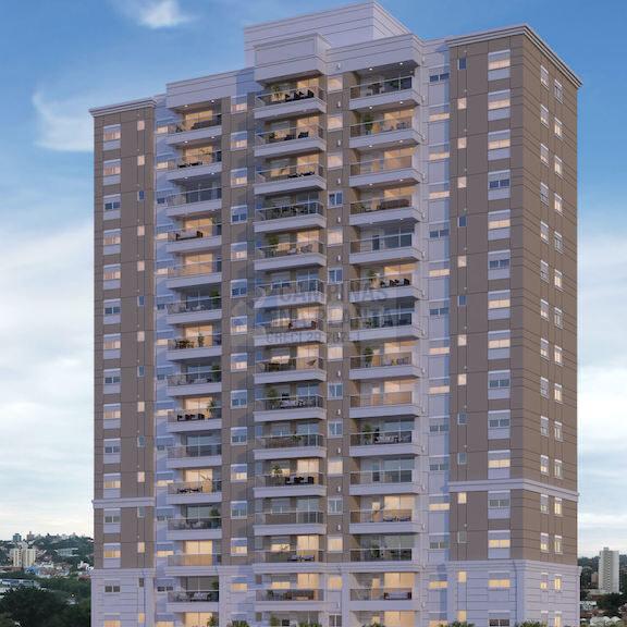 Fachada do DNA Taquaral, apartamentos na planta em Campinas da Helbor
