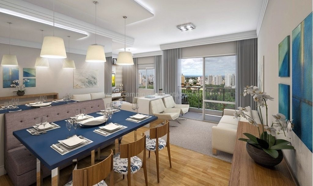 domani residencial chapadao sala apartamento 69m² ampliado