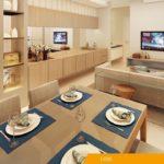 Living do apartamento tipo do DON Cambuí Apartamentos à venda
