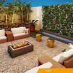 Lounge com Lareira Ecológica