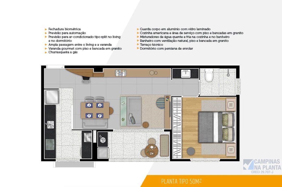 Muitas vezes DON Cambuí Apartamentos na Planta no Cambui em Campinas GO02