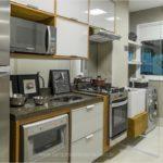 Foto da cozinha do apartamento decorado