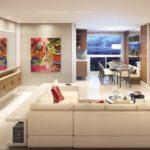 happy patriani perspectiva ilustrada living do apartamento decorado