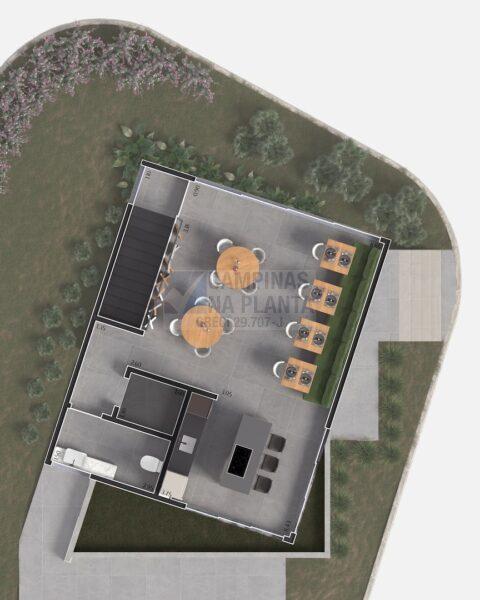 Lagoa Sky Houses Lancamento Casas Taquaral Planta Humanizada Clube Pavimento Superior