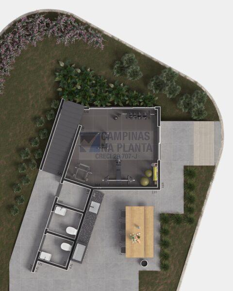 Lagoa Sky Houses Lancamento Casas Taquaral Planta Humanizada Clube Pavimento Terreo