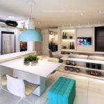 veredas patriani perspectiva ilustrada do living do apartamento decorado
