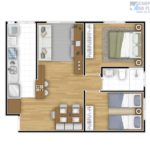 Up Campinas Planta 2 Dorm