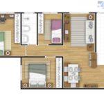 Up Campinas Planta 3 Dorm