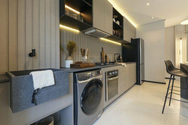 praca guanabara apartamento decorado area de servico