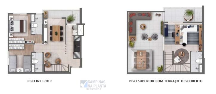 quirino 779 lancamento planta duplex 111 m2