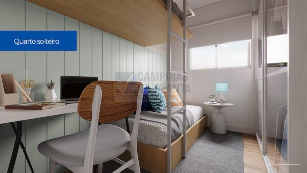 Residencial Bosque Dos Ipes Sumare Apartamento Decorado Quarto Soltero