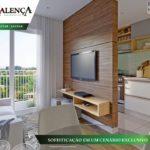 Residencial Valenca Apartamentos Na Planta Valinhos Perspectiva Sala de Estar / Jantar