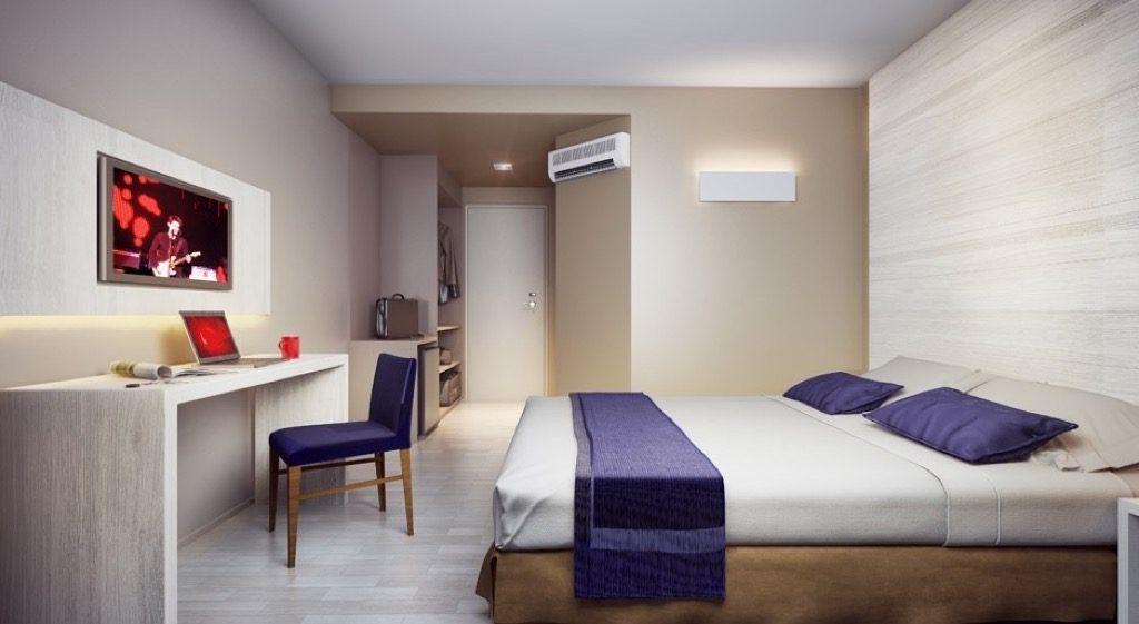Quarto do Hotel Contemporâneo do Royal Campinas