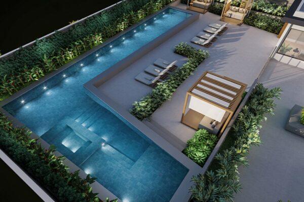 signature cambuí piscina vista aerea