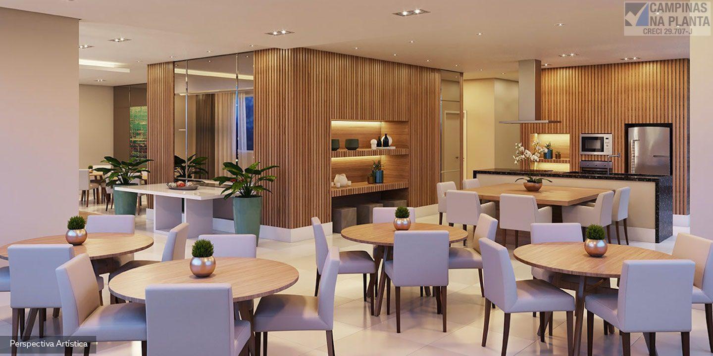 salão de festas e espaço gourmet do Splendor Patriani