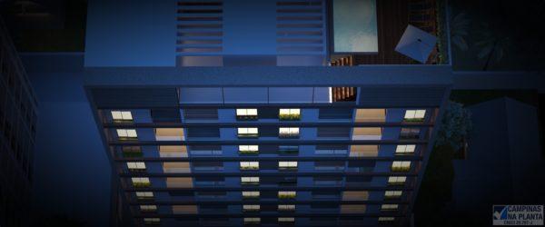 Perspectiva do Rooftop do Studio Morada