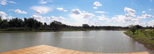 Tamboré Jaguariúna foto panorâmica do lago (oeste)
