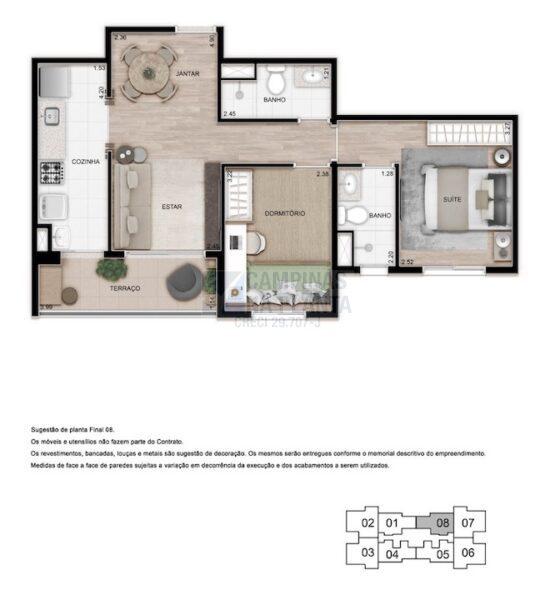 Teg Mansoes Planta 2 Quartos 1 Suite