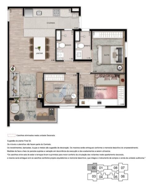 Teg Mansoes Planta 3 Quartos 1 Suite Estar Integrado Terraco