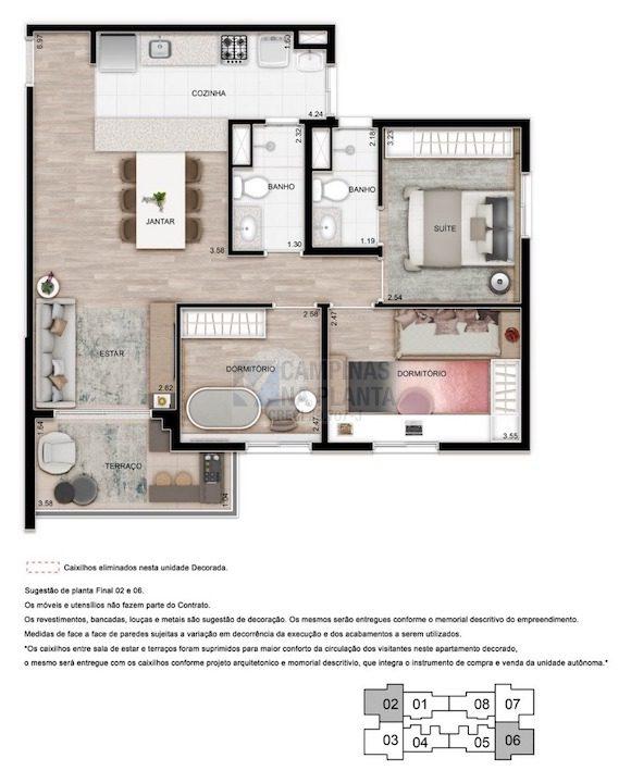 Teg Mansoes Planta 3 Quartos 1 Suite