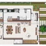 Villaggio Shangrilá Planta Opção Pavimento Inferior