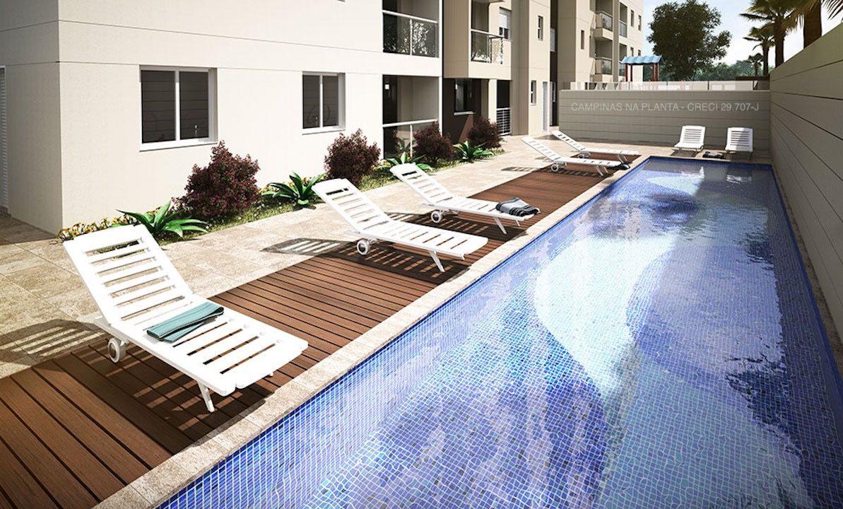 piscina vivere residence apartamentos venda campinas Jardim Paulicéia