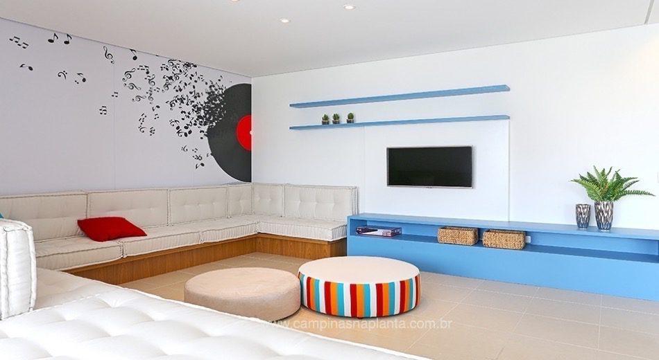 Sala De Debate Tv Futura ~  apoio gourmet salão de festas social lounge churrasqueira sala de tv